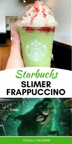 Starbucks Slimer Frappuccino #slimer #frappuccino #starbuckssecretmenu