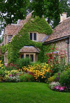 Lovely english cottage garden