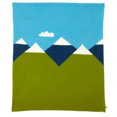 Petite couverture Montagnes - Donna Wilson - Couvertures et plaids design pour chambre d'enfant - Les Enfants du Design