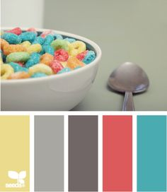 Awesome color pallet. I would need a shade of brown in here though to balance the teal.