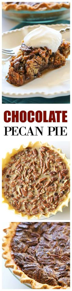 Chocolate Pecan Pie - you'll never go back to regular pecan pie ever again. the-girl-who-ate-everything.com