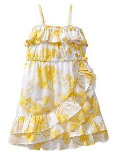 Cute flower girl's dress...not too fussy for a fourth of july wedding! Asymmetrical ruffle dress | Gap