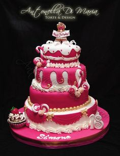 Pink Candy Cake  Cake by antonelladimaria