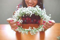 DIY : o dia em que ensinei a fazer uma coroa de flores   Liraby