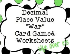 math worksheet : free teaching resource  place value  decimal dice game! students  : Decimals And Place Value Worksheets