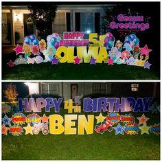 Birthday Yard Signs, Happy Birthday, Cards, Messages, Happy Brithday, Urari La Multi Ani, Happy Birthday Funny, Maps, Playing Cards
