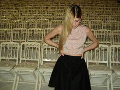 Nora Sarman SS 2014 silk top and skirt