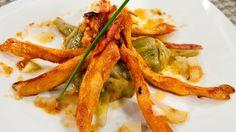Saber cocinar - Pollo macerado a la plancha con menestra de alcachofas