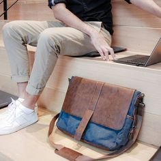 """Monday motivation - """"Focus on being productive instead of busy"""" (Tim Ferris)  #mondaymotivation #workhard #workstyle #laptopbag #manstyle #officestyle #messengerbag #myvetelli"""