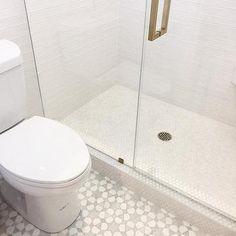 White and Gray Star Bathroom Tiles