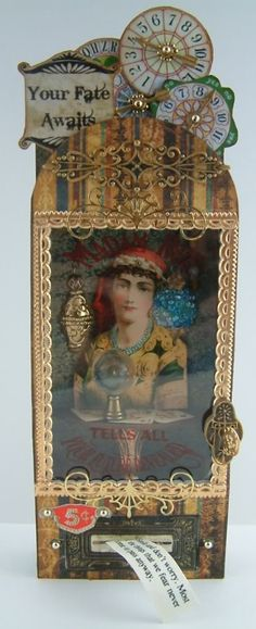 Artfully Musing: Video Tutorial - Madam Rue's Fortune Telling Machine Designed for Alpha Stamps