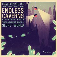 Delve deep into the Endless Caverns in playtwo.do/ts Two Dots Game, Images And Words, Dig Deep, Illustrations And Posters, Fun Games, Artsy, World, Movie Posters, Postcards