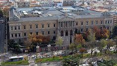Vistas del edificio de la Biblioteca Nacional de España. Madrid España