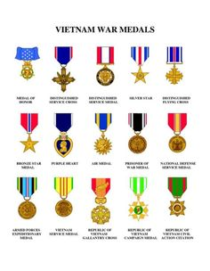 Vietnam Service Medals. My dad has 1 Silver Star, 2 B.S. and 3 P.H.