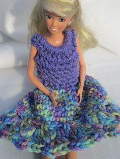 Crochet Barbie Dress in Party Purple by crochetedbycharlene, $10.00
