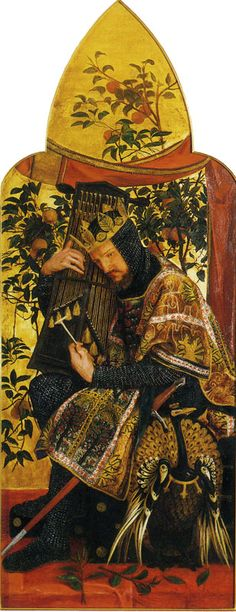 "Right panel ""David as King"" from the triptych The Seed of David by Dante Gabriel Rossetti 1858-1864"
