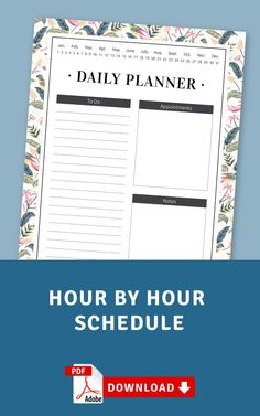Keep your schedule with this Hour By Hour Schedule template. Planning will take a couple of minutes because you don't need to fill in some extra info. It's also available as a digital version (PDF). #schedule #hourly #daily #day #weekly Daily Schedule Template, Daily Planner Printable, List Template, Planner Template, Wedding Shower Invitations, Unique Invitations, Pre Wedding Party, Home Planner, Custom Cards
