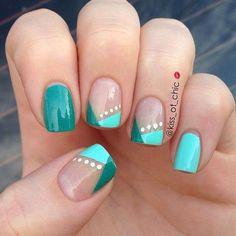 Einfache Nail-Designs für Anfänger.  So nett und einfach, dass man es selbst tun können.