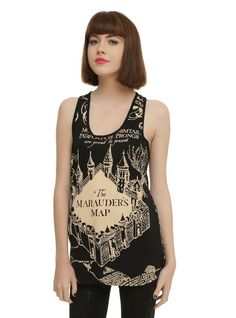 Marauder's Map Tank Top ($25) | Seriously Cute Harry Potter Gear That You Can Rock When It's Hot Outside | POPSUGAR Tech