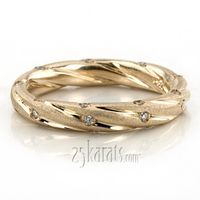 #Twisted Style Diamond Wedding Band  #wedding #band #Wedding #Band #weddingband #ring #25karats