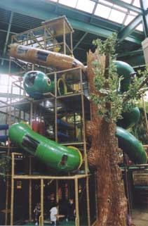 Adventure Peak huge indoor climbing area and gym, inside Edinborough, Edina {the tall building with green roof, behind Centennial Lakes overlooking 494 at Xerxes, next to Marriott}