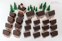 advent calendar. set of construction papers for a little village of 24 houses that can be individually filled with sweets, toys or small gifts.