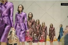 Anything in purple has Camryn's stamp of approval. However, she did come to me a couple of weeks ago, mind you~at the ripe ole age of ten, and tell me the latest fashion trend will be emerald green. <3 my girl! #Nordstrom livepin of @Burberry Spring 2013 from #LFW