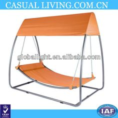 \swing Garden Swing Bed Anthracite Color. Metal Frame,orange Pvc Mesh - Buy…