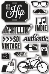 *Hero Arts Clear Stamps YOU ARE HIP BasicGrey 2013 cl679