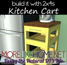 Build a Kitchen Cart out of 2x4s with MoreLikeHome.net. Plus Lowes / Home Depot gift cards giveaway!