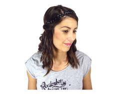 headband tressé en cheveux noir #coiffure #headband