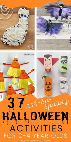 37 Not-so-spooky Halloween crafts & activities for your toddler