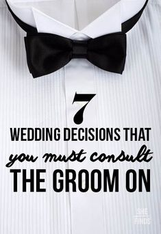 7 wedding decisions that you must consult the groom on