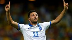 Brasil 2014: Grécia 2 x 1 Costa do Marfim - Andreas Samaris of Greece celebrates scoring his team's first goal during the 2014 FIFA World Cup Brazil Group C match between Greece and Cote D'Ivoire at Estadio Castelao on June 24, 2014 in Fortaleza, Brazil.