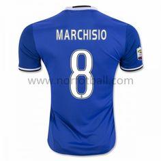 Billige Fotballdrakter Juventus 2016-17 Marchisio 8 Borte Draktsett Kortermet