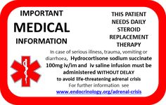 Adrenal Emergency Card - Front