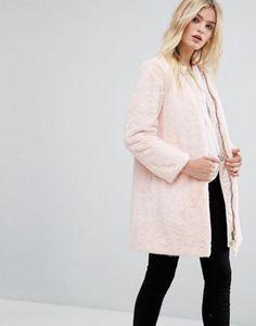 MAX&Co Faux Pink Fur Darsena Coat