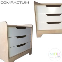 As it has come to expect of MODChild, here is another clever little item. Our compactum has all the standard features one would normally find, with it's beautiful modern lines is a piece that starts off serving baby and later, by arranging it differently, reinvents itself to fit in anywhere within the home, what's more is, with it's child-safe drawer system is the safest on the market.