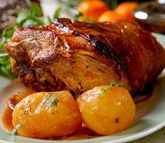 recetas-de-cocina-pernil-de-cerdo-acaramelado-con-jugo-de-mandarinas