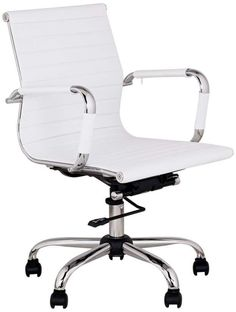 pu leather high back executive office desk task computer chair pink