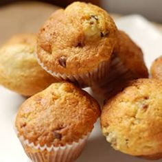 our favorite muffin . . . I use sunflower oil, I sub 1 cup unbleached flour, 1/2 cup ww flour, and 1/4 wheat germ for the flour . . . I only use 1/2 cup sugar (in the raw) . . . and I usually add walnuts . .. they are SO GOOD