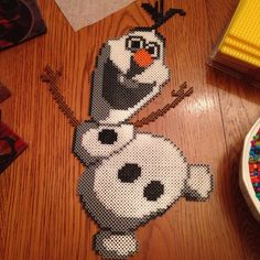 Olaf Frozen perler beads by thatperlernerd
