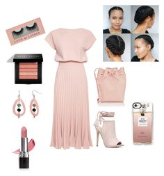 """""""breezy femininity"""" by fashionfanaticforever ❤ liked on Polyvore featuring JustFab, Avon, Erica Lyons, Casetify, Mansur Gavriel and Bobbi Brown Cosmetics"""