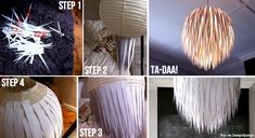 """Another cute idea to """"give a twist"""" to a plain, anonymous lampshade!"""