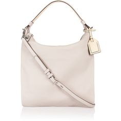 Reed Krakoff Standard Hobo leather shoulder bag ($415) ❤ liked on Polyvore featuring bags, handbags, shoulder bags, сумки, light gray, genuine leather shoulder bag, leather shoulder bag, leather hobo shoulder bag, leather shoulder handbags and genuine leather purse