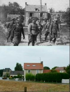 We found images of the Normandy invasion from world war 2 and matched them with images from the same place today. It's a fascinating look at history. D Day Normandy, Then And Now Photos, D Day Landings, World War One, France, Historical Pictures, Military History, American History, Wwii