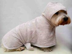 Dog Towelling Bathrobe/Dressing Gown - SidsStuff.com
