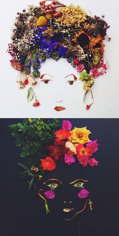 Have you spotted those amazing botanical ladies  making rounds on Instagram? Justina  says that making portraits out of leaves and f...