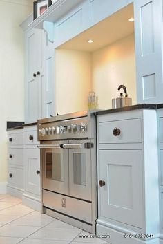 J Shaker Heritage Range Cooker Surround and Chimney Made to Your Size in Your Choice of Colour image