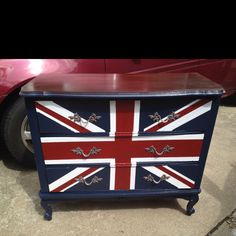 Union jack / British flag dresser redo.